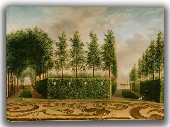 Janson, Johannes: A Formal Garden. Fine Art Canvas. Sizes: A4/A3/A2/A1 (004018)